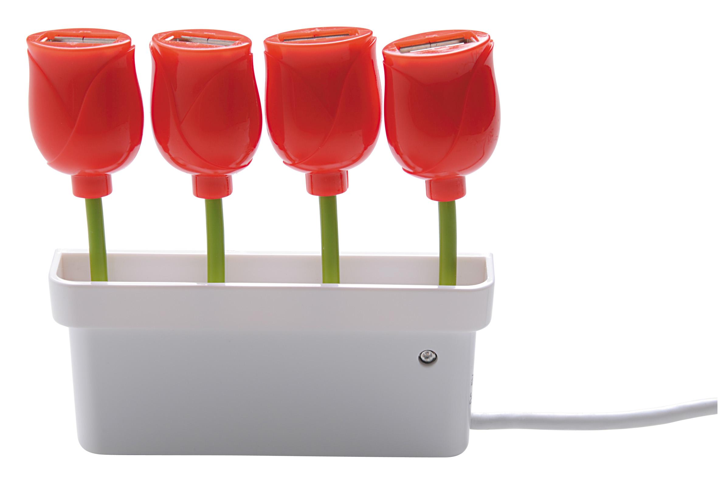 Hub de tulipanes USB